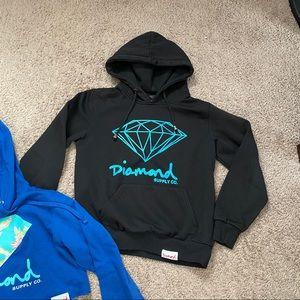 Diamond supply co logo hoodie S